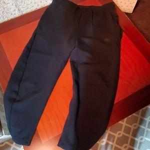 Nike, black sweatpants. Drawstring waistband.